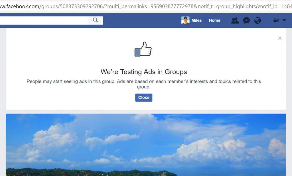 facebook advertising groups