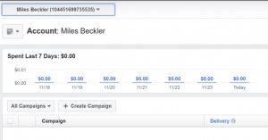 Ads Manager Interface