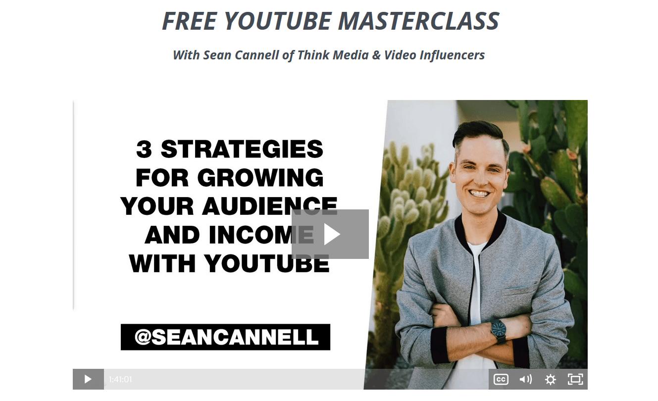 free youtube masterclass