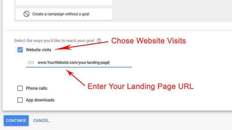 website visits