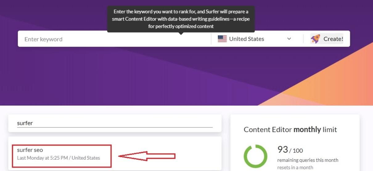 Surfer content Editor