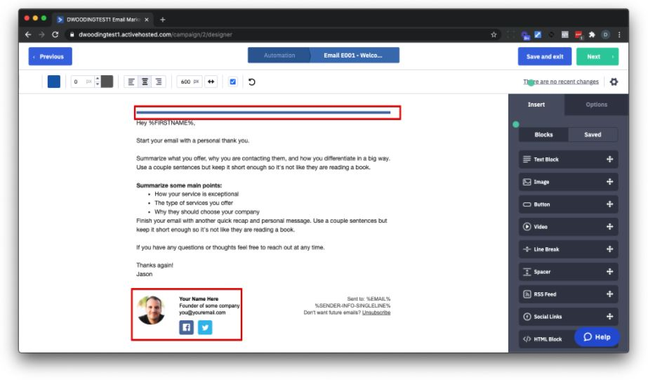 Customize and Simplify Your Email Template